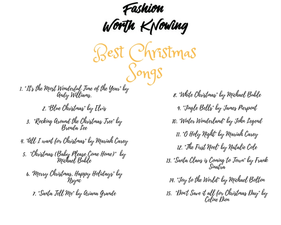 The Best Christmas Songs - Fashion Worth Knowing